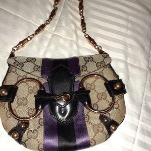 Gucci web horsebit bag